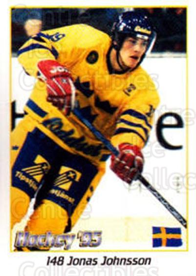 1995 Swedish World Championships Stickers #148 Jonas Johnsson<br/>3 In Stock - $2.00 each - <a href=https://centericecollectibles.foxycart.com/cart?name=1995%20Swedish%20World%20Championships%20Stickers%20%23148%20Jonas%20Johnsson...&price=$2.00&code=37191 class=foxycart> Buy it now! </a>