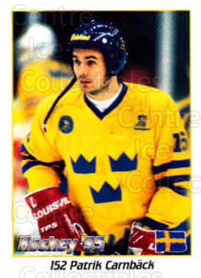 1995 Swedish World Championships Stickers #152 Patrik Carnback<br/>4 In Stock - $2.00 each - <a href=https://centericecollectibles.foxycart.com/cart?name=1995%20Swedish%20World%20Championships%20Stickers%20%23152%20Patrik%20Carnback...&price=$2.00&code=37195 class=foxycart> Buy it now! </a>