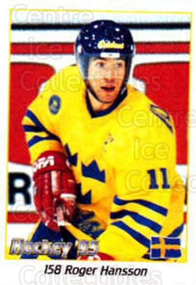 1995 Swedish World Championships Stickers #158 Roger Hansson<br/>2 In Stock - $2.00 each - <a href=https://centericecollectibles.foxycart.com/cart?name=1995%20Swedish%20World%20Championships%20Stickers%20%23158%20Roger%20Hansson...&price=$2.00&code=37201 class=foxycart> Buy it now! </a>