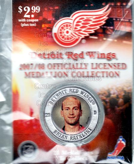2007-08 Detroit Red Wings Medallion #18 Brian Rafalski<br/>3 In Stock - $5.00 each - <a href=https://centericecollectibles.foxycart.com/cart?name=2007-08%20Detroit%20Red%20Wings%20Medallion%20%2318%20Brian%20Rafalski...&quantity_max=3&price=$5.00&code=372237 class=foxycart> Buy it now! </a>