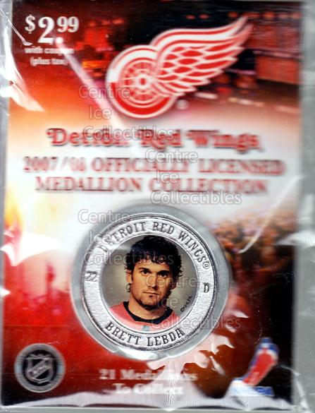 2007-08 Detroit Red Wings Medallion #13 Brett Lebda<br/>3 In Stock - $5.00 each - <a href=https://centericecollectibles.foxycart.com/cart?name=2007-08%20Detroit%20Red%20Wings%20Medallion%20%2313%20Brett%20Lebda...&quantity_max=3&price=$5.00&code=372252 class=foxycart> Buy it now! </a>