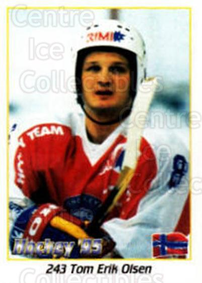 1995 Swedish World Championships Stickers #243 Tom-Erik Olsen<br/>3 In Stock - $2.00 each - <a href=https://centericecollectibles.foxycart.com/cart?name=1995%20Swedish%20World%20Championships%20Stickers%20%23243%20Tom-Erik%20Olsen...&quantity_max=3&price=$2.00&code=37258 class=foxycart> Buy it now! </a>