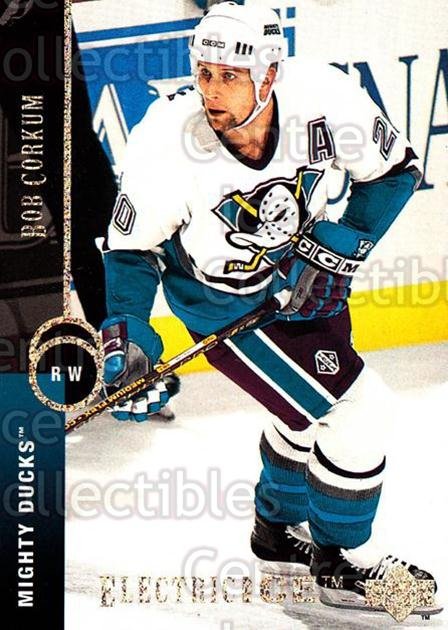 1994-95 Upper Deck Electric Ice #413 Bob Corkum<br/>1 In Stock - $2.00 each - <a href=https://centericecollectibles.foxycart.com/cart?name=1994-95%20Upper%20Deck%20Electric%20Ice%20%23413%20Bob%20Corkum...&quantity_max=1&price=$2.00&code=372627 class=foxycart> Buy it now! </a>