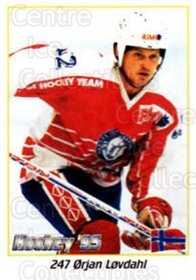 1995 Swedish World Championships Stickers #247 Orjan Lovdal<br/>1 In Stock - $2.00 each - <a href=https://centericecollectibles.foxycart.com/cart?name=1995%20Swedish%20World%20Championships%20Stickers%20%23247%20Orjan%20Lovdal...&quantity_max=1&price=$2.00&code=37262 class=foxycart> Buy it now! </a>