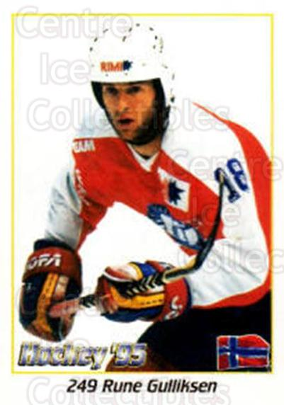 1995 Swedish World Championships Stickers #249 Rune Gulliksen<br/>2 In Stock - $2.00 each - <a href=https://centericecollectibles.foxycart.com/cart?name=1995%20Swedish%20World%20Championships%20Stickers%20%23249%20Rune%20Gulliksen...&quantity_max=2&price=$2.00&code=37264 class=foxycart> Buy it now! </a>