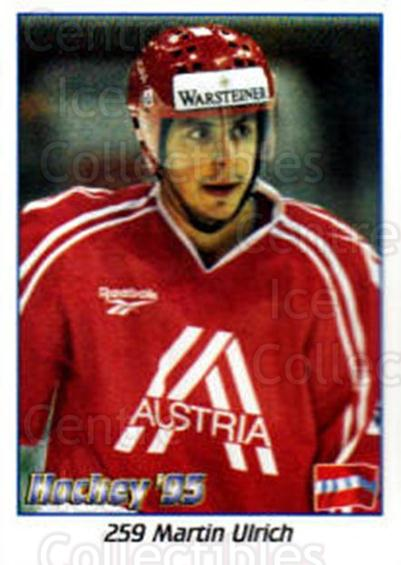 1995 Swedish World Championships Stickers #259 Martin Ulrich<br/>2 In Stock - $2.00 each - <a href=https://centericecollectibles.foxycart.com/cart?name=1995%20Swedish%20World%20Championships%20Stickers%20%23259%20Martin%20Ulrich...&quantity_max=2&price=$2.00&code=37272 class=foxycart> Buy it now! </a>