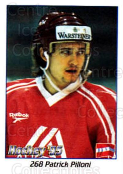 1995 Swedish World Championships Stickers #268 Patrick Pilloni<br/>1 In Stock - $2.00 each - <a href=https://centericecollectibles.foxycart.com/cart?name=1995%20Swedish%20World%20Championships%20Stickers%20%23268%20Patrick%20Pilloni...&quantity_max=1&price=$2.00&code=37278 class=foxycart> Buy it now! </a>