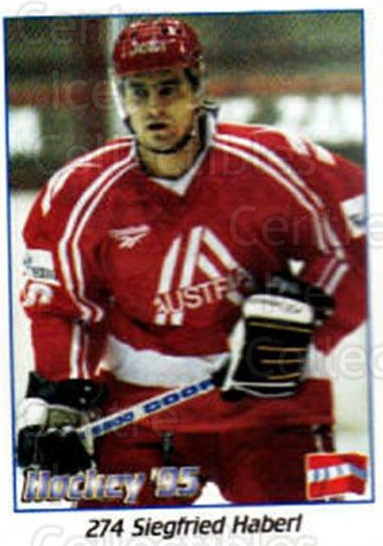 1995 Swedish World Championships Stickers #274 Siegfried Haberl<br/>1 In Stock - $2.00 each - <a href=https://centericecollectibles.foxycart.com/cart?name=1995%20Swedish%20World%20Championships%20Stickers%20%23274%20Siegfried%20Haber...&quantity_max=1&price=$2.00&code=37284 class=foxycart> Buy it now! </a>