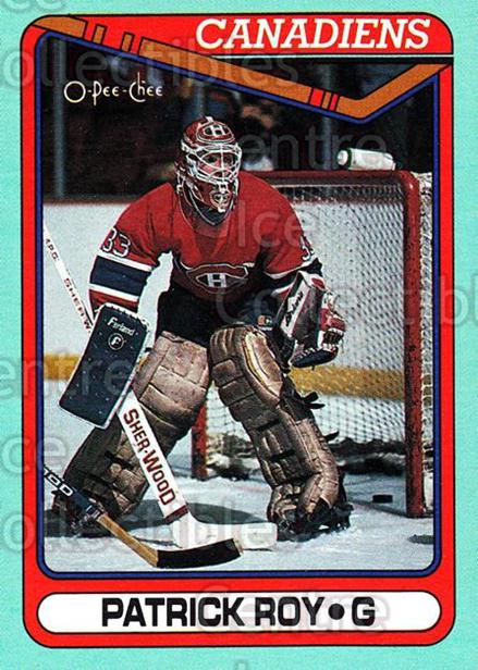 1990-91 O-Pee-Chee Box Bottoms #E Patrick Roy<br/>1 In Stock - $5.00 each - <a href=https://centericecollectibles.foxycart.com/cart?name=1990-91%20O-Pee-Chee%20Box%20Bottoms%20%23E%20Patrick%20Roy...&quantity_max=1&price=$5.00&code=372944 class=foxycart> Buy it now! </a>