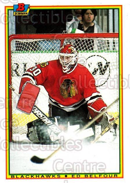 1990-91 Bowman Tiffany #7 Ed Belfour<br/>1 In Stock - $10.00 each - <a href=https://centericecollectibles.foxycart.com/cart?name=1990-91%20Bowman%20Tiffany%20%237%20Ed%20Belfour...&quantity_max=1&price=$10.00&code=372952 class=foxycart> Buy it now! </a>