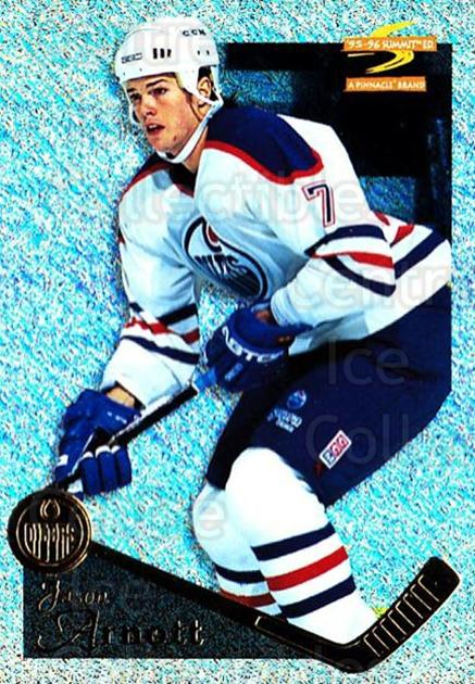 1995-96 Summit Ice #18 Jason Arnott<br/>4 In Stock - $3.00 each - <a href=https://centericecollectibles.foxycart.com/cart?name=1995-96%20Summit%20Ice%20%2318%20Jason%20Arnott...&quantity_max=4&price=$3.00&code=373292 class=foxycart> Buy it now! </a>