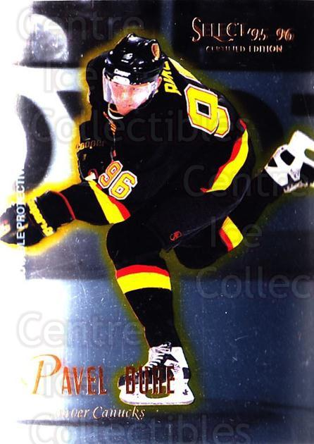 1995-96 Select Certified #16 Pavel Bure<br/>2 In Stock - $2.00 each - <a href=https://centericecollectibles.foxycart.com/cart?name=1995-96%20Select%20Certified%20%2316%20Pavel%20Bure...&quantity_max=2&price=$2.00&code=373609 class=foxycart> Buy it now! </a>