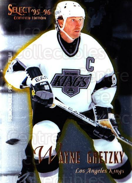 1995-96 Select Certified #23 Wayne Gretzky<br/>2 In Stock - $5.00 each - <a href=https://centericecollectibles.foxycart.com/cart?name=1995-96%20Select%20Certified%20%2323%20Wayne%20Gretzky...&quantity_max=2&price=$5.00&code=373610 class=foxycart> Buy it now! </a>