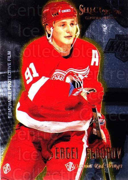 1995-96 Select Certified #29 Sergei Fedorov<br/>2 In Stock - $2.00 each - <a href=https://centericecollectibles.foxycart.com/cart?name=1995-96%20Select%20Certified%20%2329%20Sergei%20Fedorov...&quantity_max=2&price=$2.00&code=373612 class=foxycart> Buy it now! </a>