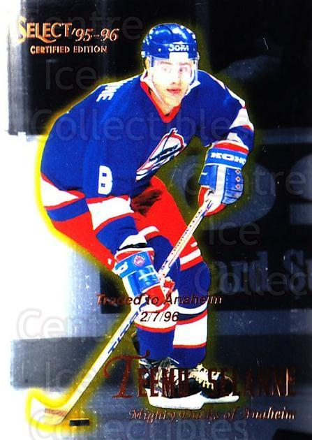 1995-96 Select Certified #76 Teemu Selanne<br/>2 In Stock - $2.00 each - <a href=https://centericecollectibles.foxycart.com/cart?name=1995-96%20Select%20Certified%20%2376%20Teemu%20Selanne...&quantity_max=2&price=$2.00&code=373616 class=foxycart> Buy it now! </a>