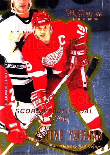 1995-96 Select Certified #94 Steve Yzerman<br/>1 In Stock - $3.00 each - <a href=https://centericecollectibles.foxycart.com/cart?name=1995-96%20Select%20Certified%20%2394%20Steve%20Yzerman...&quantity_max=1&price=$3.00&code=373618 class=foxycart> Buy it now! </a>