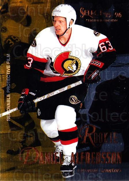 1995-96 Select Certified #122 Daniel Alfredsson<br/>1 In Stock - $3.00 each - <a href=https://centericecollectibles.foxycart.com/cart?name=1995-96%20Select%20Certified%20%23122%20Daniel%20Alfredss...&price=$3.00&code=373619 class=foxycart> Buy it now! </a>