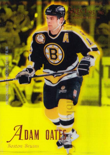 1995-96 Select Certified Mirror Gold #11 Adam Oates<br/>6 In Stock - $3.00 each - <a href=https://centericecollectibles.foxycart.com/cart?name=1995-96%20Select%20Certified%20Mirror%20Gold%20%2311%20Adam%20Oates...&quantity_max=6&price=$3.00&code=373631 class=foxycart> Buy it now! </a>