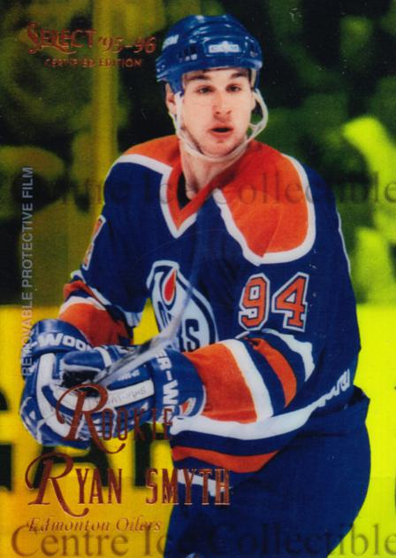 1995-96 Select Certified Mirror Gold #121 Ryan Smyth<br/>2 In Stock - $3.00 each - <a href=https://centericecollectibles.foxycart.com/cart?name=1995-96%20Select%20Certified%20Mirror%20Gold%20%23121%20Ryan%20Smyth...&quantity_max=2&price=$3.00&code=373644 class=foxycart> Buy it now! </a>