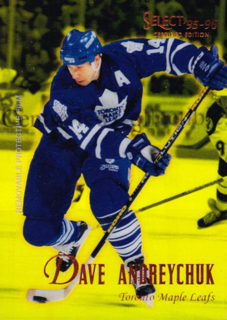 1995-96 Select Certified Mirror Gold #28 Dave Andreychuk<br/>3 In Stock - $3.00 each - <a href=https://centericecollectibles.foxycart.com/cart?name=1995-96%20Select%20Certified%20Mirror%20Gold%20%2328%20Dave%20Andreychuk...&quantity_max=3&price=$3.00&code=373680 class=foxycart> Buy it now! </a>