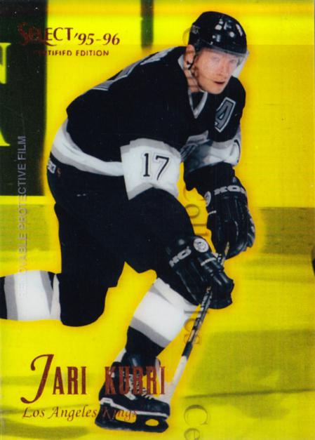 1995-96 Select Certified Mirror Gold #35 Jari Kurri<br/>3 In Stock - $5.00 each - <a href=https://centericecollectibles.foxycart.com/cart?name=1995-96%20Select%20Certified%20Mirror%20Gold%20%2335%20Jari%20Kurri...&quantity_max=3&price=$5.00&code=373687 class=foxycart> Buy it now! </a>