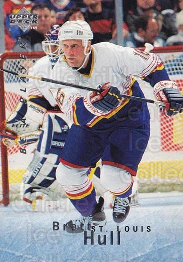 1995-96 Be A Player #1 Brett Hull<br/>5 In Stock - $2.00 each - <a href=https://centericecollectibles.foxycart.com/cart?name=1995-96%20Be%20A%20Player%20%231%20Brett%20Hull...&quantity_max=5&price=$2.00&code=37368 class=foxycart> Buy it now! </a>