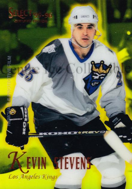 1995-96 Select Certified Mirror Gold #46 Kevin Stevens<br/>4 In Stock - $3.00 each - <a href=https://centericecollectibles.foxycart.com/cart?name=1995-96%20Select%20Certified%20Mirror%20Gold%20%2346%20Kevin%20Stevens...&quantity_max=4&price=$3.00&code=373697 class=foxycart> Buy it now! </a>
