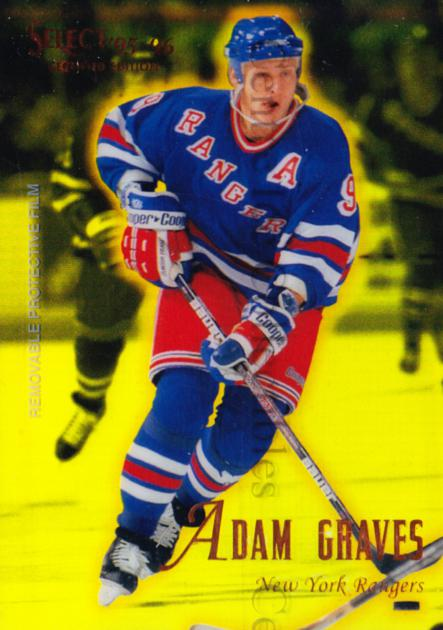 1995-96 Select Certified Mirror Gold #47 Adam Graves<br/>6 In Stock - $3.00 each - <a href=https://centericecollectibles.foxycart.com/cart?name=1995-96%20Select%20Certified%20Mirror%20Gold%20%2347%20Adam%20Graves...&quantity_max=6&price=$3.00&code=373698 class=foxycart> Buy it now! </a>
