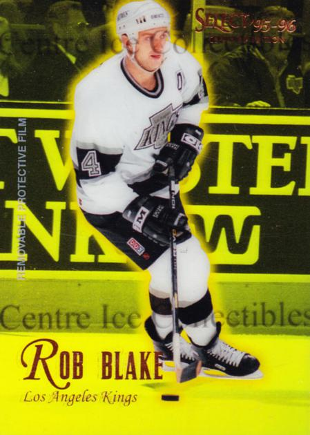 1995-96 Select Certified Mirror Gold #74 Rob Blake<br/>2 In Stock - $3.00 each - <a href=https://centericecollectibles.foxycart.com/cart?name=1995-96%20Select%20Certified%20Mirror%20Gold%20%2374%20Rob%20Blake...&quantity_max=2&price=$3.00&code=373726 class=foxycart> Buy it now! </a>
