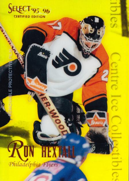 1995-96 Select Certified Mirror Gold #78 Ron Hextall<br/>1 In Stock - $3.00 each - <a href=https://centericecollectibles.foxycart.com/cart?name=1995-96%20Select%20Certified%20Mirror%20Gold%20%2378%20Ron%20Hextall...&quantity_max=1&price=$3.00&code=373729 class=foxycart> Buy it now! </a>