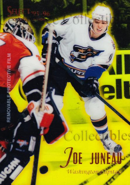 1995-96 Select Certified Mirror Gold #80 Joe Juneau<br/>1 In Stock - $3.00 each - <a href=https://centericecollectibles.foxycart.com/cart?name=1995-96%20Select%20Certified%20Mirror%20Gold%20%2380%20Joe%20Juneau...&quantity_max=1&price=$3.00&code=373732 class=foxycart> Buy it now! </a>