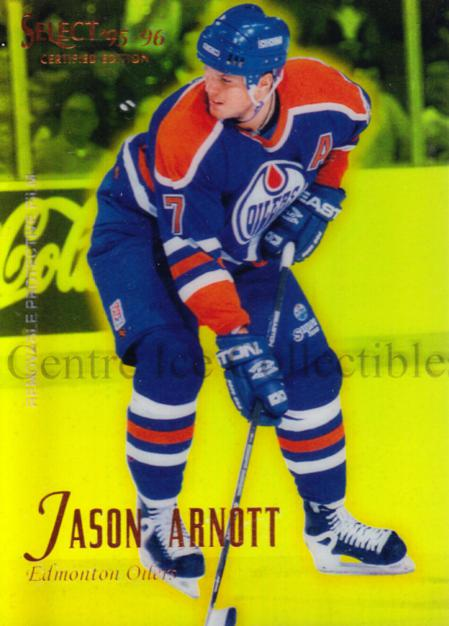 1995-96 Select Certified Mirror Gold #9 Jason Arnott<br/>1 In Stock - $3.00 each - <a href=https://centericecollectibles.foxycart.com/cart?name=1995-96%20Select%20Certified%20Mirror%20Gold%20%239%20Jason%20Arnott...&quantity_max=1&price=$3.00&code=373741 class=foxycart> Buy it now! </a>