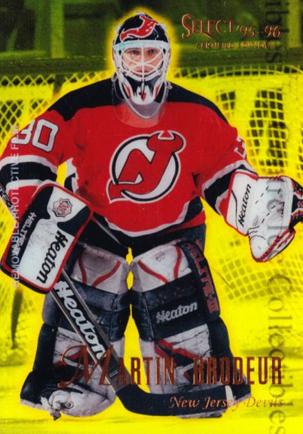 1995-96 Select Certified Mirror Gold #24 Martin Brodeur<br/>1 In Stock - $15.00 each - <a href=https://centericecollectibles.foxycart.com/cart?name=1995-96%20Select%20Certified%20Mirror%20Gold%20%2324%20Martin%20Brodeur...&quantity_max=1&price=$15.00&code=373755 class=foxycart> Buy it now! </a>