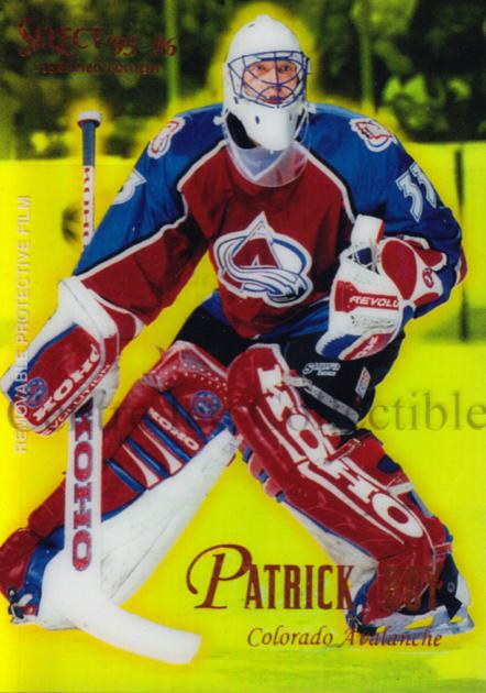 1995-96 Select Certified Mirror Gold #81 Patrick Roy<br/>1 In Stock - $20.00 each - <a href=https://centericecollectibles.foxycart.com/cart?name=1995-96%20Select%20Certified%20Mirror%20Gold%20%2381%20Patrick%20Roy...&quantity_max=1&price=$20.00&code=373761 class=foxycart> Buy it now! </a>