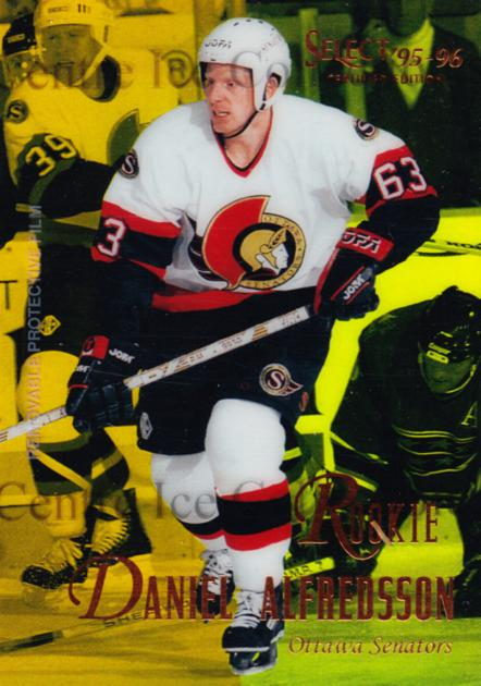 1995-96 Select Certified Mirror Gold #122 Daniel Alfredsson<br/>1 In Stock - $15.00 each - <a href=https://centericecollectibles.foxycart.com/cart?name=1995-96%20Select%20Certified%20Mirror%20Gold%20%23122%20Daniel%20Alfredss...&quantity_max=1&price=$15.00&code=373763 class=foxycart> Buy it now! </a>
