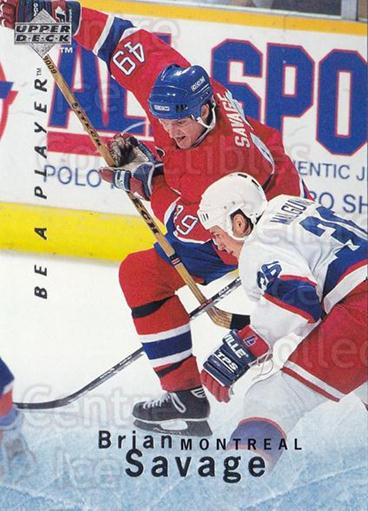 1995-96 Be A Player #138 Brian Savage<br/>4 In Stock - $1.00 each - <a href=https://centericecollectibles.foxycart.com/cart?name=1995-96%20Be%20A%20Player%20%23138%20Brian%20Savage...&quantity_max=4&price=$1.00&code=37410 class=foxycart> Buy it now! </a>