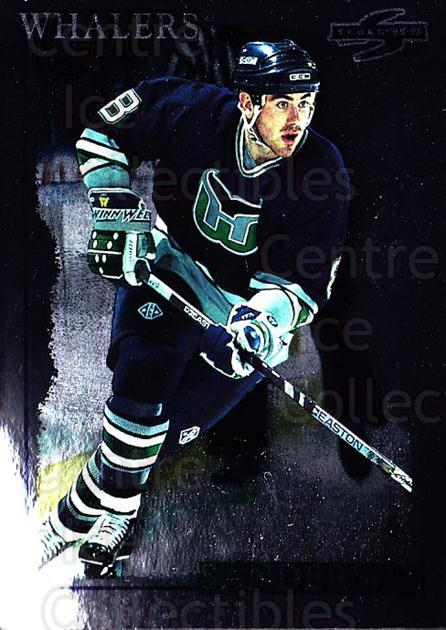 1995-96 Score Black Ice #111 Geoff Sanderson<br/>3 In Stock - $2.00 each - <a href=https://centericecollectibles.foxycart.com/cart?name=1995-96%20Score%20Black%20Ice%20%23111%20Geoff%20Sanderson...&quantity_max=3&price=$2.00&code=374173 class=foxycart> Buy it now! </a>