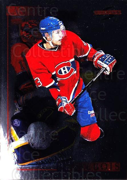 1995-96 Score Black Ice #148 Patrice Brisebois<br/>4 In Stock - $2.00 each - <a href=https://centericecollectibles.foxycart.com/cart?name=1995-96%20Score%20Black%20Ice%20%23148%20Patrice%20Brisebo...&quantity_max=4&price=$2.00&code=374213 class=foxycart> Buy it now! </a>