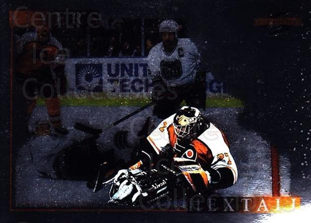 1995-96 Score Black Ice #195 Ron Hextall<br/>1 In Stock - $2.00 each - <a href=https://centericecollectibles.foxycart.com/cart?name=1995-96%20Score%20Black%20Ice%20%23195%20Ron%20Hextall...&quantity_max=1&price=$2.00&code=374265 class=foxycart> Buy it now! </a>