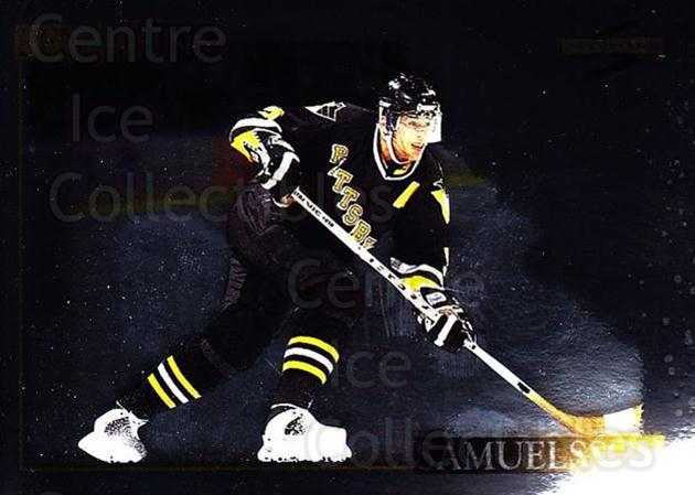 1995-96 Score Black Ice #203 Ulf Samuelsson<br/>2 In Stock - $2.00 each - <a href=https://centericecollectibles.foxycart.com/cart?name=1995-96%20Score%20Black%20Ice%20%23203%20Ulf%20Samuelsson...&quantity_max=2&price=$2.00&code=374275 class=foxycart> Buy it now! </a>