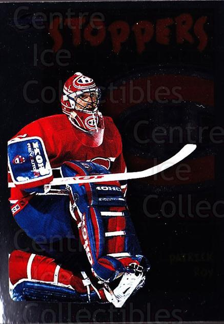 1995-96 Score Black Ice #324 Patrick Roy<br/>1 In Stock - $5.00 each - <a href=https://centericecollectibles.foxycart.com/cart?name=1995-96%20Score%20Black%20Ice%20%23324%20Patrick%20Roy...&price=$5.00&code=374406 class=foxycart> Buy it now! </a>