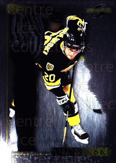 1995-96 Score Black Ice #43 Bryan Smolinski<br/>4 In Stock - $2.00 each - <a href=https://centericecollectibles.foxycart.com/cart?name=1995-96%20Score%20Black%20Ice%20%2343%20Bryan%20Smolinski...&quantity_max=4&price=$2.00&code=374424 class=foxycart> Buy it now! </a>