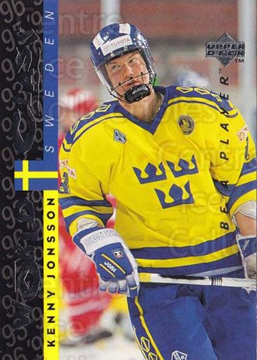 1995-96 Be A Player #180 Kenny Jonsson<br/>4 In Stock - $1.00 each - <a href=https://centericecollectibles.foxycart.com/cart?name=1995-96%20Be%20A%20Player%20%23180%20Kenny%20Jonsson...&quantity_max=4&price=$1.00&code=37457 class=foxycart> Buy it now! </a>