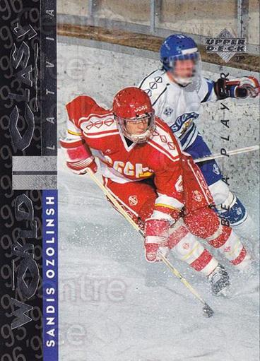 1995-96 Be A Player #183 Sandis Ozolinsh<br/>5 In Stock - $1.00 each - <a href=https://centericecollectibles.foxycart.com/cart?name=1995-96%20Be%20A%20Player%20%23183%20Sandis%20Ozolinsh...&quantity_max=5&price=$1.00&code=37460 class=foxycart> Buy it now! </a>