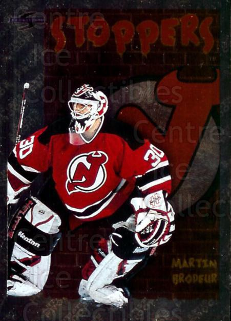 1995-96 Score Black Ice Artist's Proofs #323 Martin Brodeur<br/>1 In Stock - $10.00 each - <a href=https://centericecollectibles.foxycart.com/cart?name=1995-96%20Score%20Black%20Ice%20Artist's%20Proofs%20%23323%20Martin%20Brodeur...&price=$10.00&code=374735 class=foxycart> Buy it now! </a>