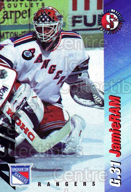 1995-96 Binghamton Rangers #18 Jamie Ram<br/>5 In Stock - $3.00 each - <a href=https://centericecollectibles.foxycart.com/cart?name=1995-96%20Binghamton%20Rangers%20%2318%20Jamie%20Ram...&quantity_max=5&price=$3.00&code=37527 class=foxycart> Buy it now! </a>