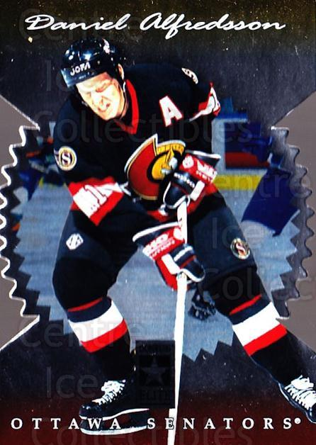 1996-97 Donruss Elite Die Cut Stars #100 Daniel Alfredsson<br/>1 In Stock - $5.00 each - <a href=https://centericecollectibles.foxycart.com/cart?name=1996-97%20Donruss%20Elite%20Die%20Cut%20Stars%20%23100%20Daniel%20Alfredss...&quantity_max=1&price=$5.00&code=375363 class=foxycart> Buy it now! </a>