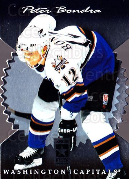 1996-97 Donruss Elite Die Cut Stars #11 Peter Bondra<br/>1 In Stock - $5.00 each - <a href=https://centericecollectibles.foxycart.com/cart?name=1996-97%20Donruss%20Elite%20Die%20Cut%20Stars%20%2311%20Peter%20Bondra...&quantity_max=1&price=$5.00&code=375373 class=foxycart> Buy it now! </a>