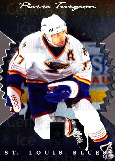 1996-97 Donruss Elite Die Cut Stars #112 Pierre Turgeon<br/>1 In Stock - $5.00 each - <a href=https://centericecollectibles.foxycart.com/cart?name=1996-97%20Donruss%20Elite%20Die%20Cut%20Stars%20%23112%20Pierre%20Turgeon...&quantity_max=1&price=$5.00&code=375376 class=foxycart> Buy it now! </a>