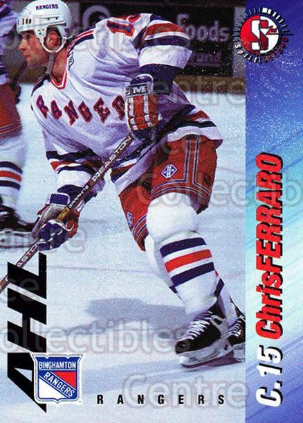 1995-96 Binghamton Rangers #5 Chris Ferraro<br/>7 In Stock - $3.00 each - <a href=https://centericecollectibles.foxycart.com/cart?name=1995-96%20Binghamton%20Rangers%20%235%20Chris%20Ferraro...&quantity_max=7&price=$3.00&code=37538 class=foxycart> Buy it now! </a>